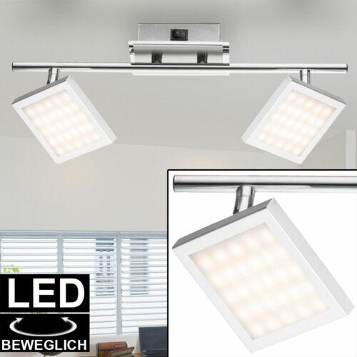 LED Decken Leuchte Wand Strahler satiniert Spots verstellbar Chrom Lampe eckig