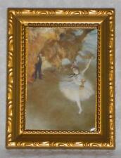 """Bild """"Balletttänzerin"""", Maßstab 1:12, Miniatur f.d. Puppenstube/Puppenhaus  #15#"""