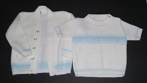 e8004e614 PRE-OWNED BABY BOY INFANTS 2 PIECE SWEATER SET 0-12 MONTHS BY JULIES ...