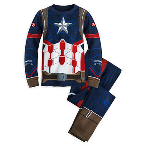 NWT DISNEY STORE Avengers Captain America Boys Pajamas PAL Pajama Set 5,6,7,8,10