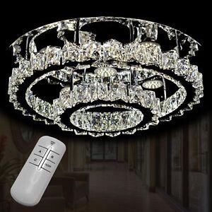 LED Deckenleuchte Kalt Warm Kristallglas Lüster ...