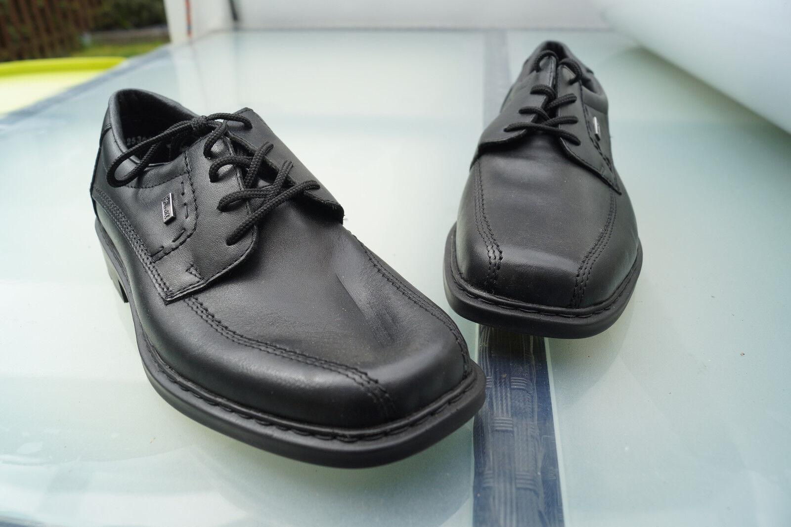 RIEKER riekertex Herren Comfort Business Schuhe NEU bequem Gr.41 schwarz Leder NEU Schuhe d9c385