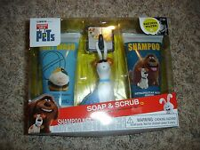 NEW Secret Life of Pets Max Soap & Scrub set Shampoo body wash & bath scrubby