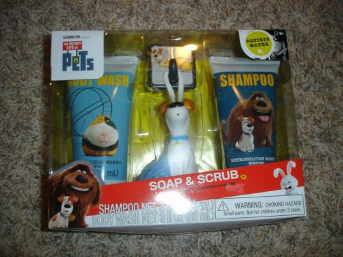 NEW Secret Life of Pets Max Soap /& Scrub set Shampoo body wash /& bath scrubby