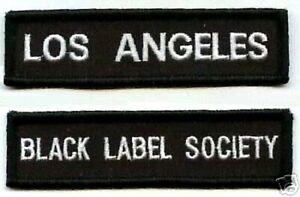 Noir Label Society Membre Ventilateur Club Los Angeles BLS Lax 2-PATCH