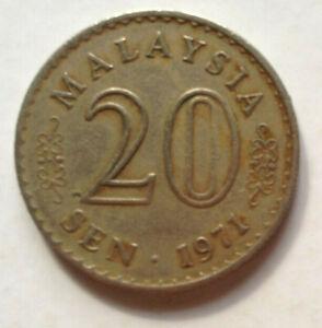 Parliament Series 20 sen coin 1971 (B)