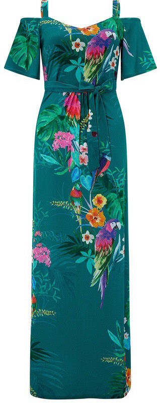 Brand New with tags MONSOON NOLA PARROT MAXI DRESS Größe 10 38 6 Shorter length