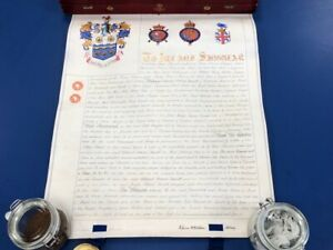 College-Of-Arms-Grant-Document-Letters-Patent-Coat-Of-Arms-Daniell