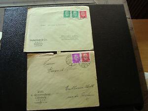 Allemgne-2-Envelopes-1930-cy12-Germany