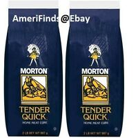 2 Bags Of Morton Tender Quick Salt 2 Lbs Each Home Meat Cure Curing