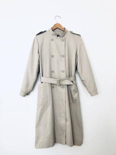 Vintage Valentino Rain Trench Coat Double Breasted