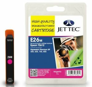 Jettec Remanufactured Ink Replaces Epson T2613 Magenta Ink E26M, MPN 101E026103