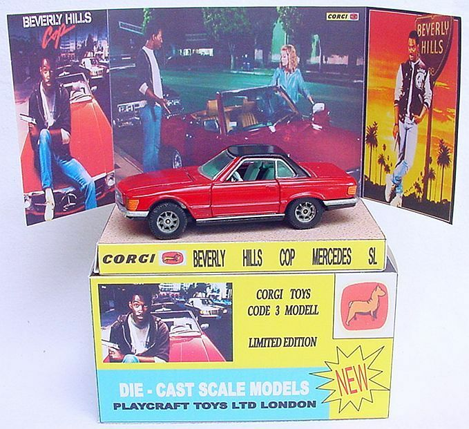 GMC Design Corgi 1:43 BEVERLY HILLS COP Eddie Murphy MERCEDES-BENZ Code 3 Car MB