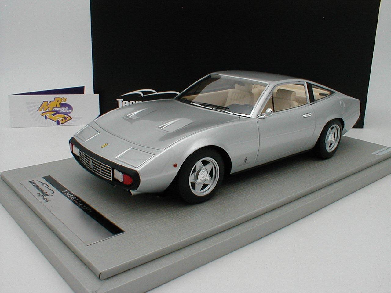 TECNOMODEL tm18-92b - Ferrari 365 gtc 4 Bj. 1971  Argent Métallique  1 18 NEUF