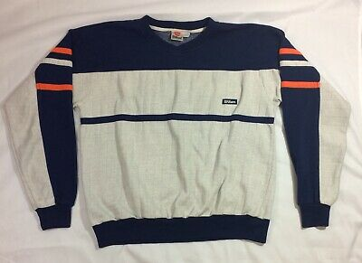 Wilson Crew Neck Sweatshirt 80's 90's Vintage OrangeBlueGray Mens Size Large L | eBay