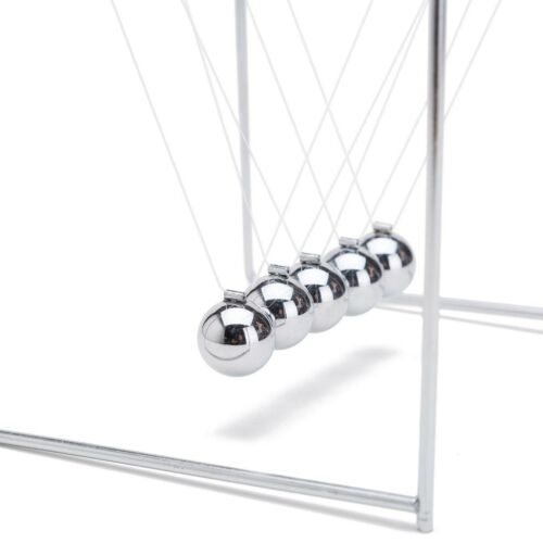 THY COLLECTIBLES Unique Stainless Steel Newtons Cradle Balance Balls 4.5 inch...