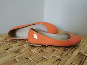 Witchery-Women-039-s-Ballet-Flats-Size-36-Made-in-India-Leather-Bright-Peach-Colour