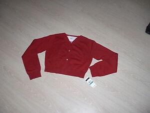 festliche-rote-Strickjacke-von-Tommy-Hilfiger-neu-US-Gr-XL-Teen-ca-164