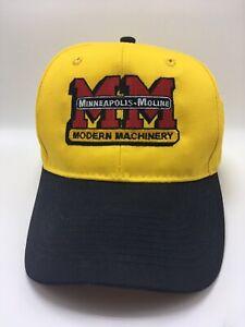 MM-Modern-Machinery-Minneapolis-Moline-ball-cap-Hat-Snapback-Yellow-amp-Black