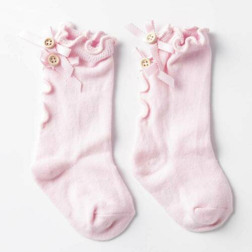 Baby Girl Socks Knee High Bows Princess Socks Cute Long Tube Booties Striped Sox