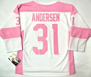 new product 02e86 10e66 Details about FREDERIK ANDERSEN TORONTO MAPLE LEAFS GIRL/WOMEN L/XL PINK  NHL LICENSED JERSEY