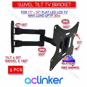 5-PCS-Swivel-Tilt-17-24-27-32-37-42-LCD-LED-TV-Monitor-Wall-Mount-VESA-Bracket
