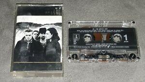 Vintage Cassette Tape - U2 - The Joshua Tree - 1987 Island Records Rock Tested