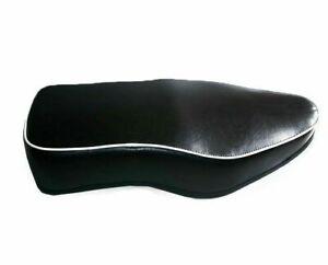 New-BSA-Dual-Seat-Black-Leatherite-With-White-Beading