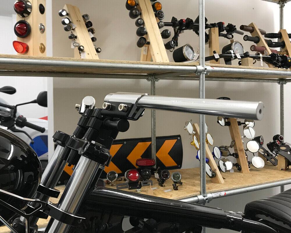 Motorrad Motorrad Motorrad Lenkerstange für Individualisierte Cafe Racer Brat Projekt - Silber e4f9dc