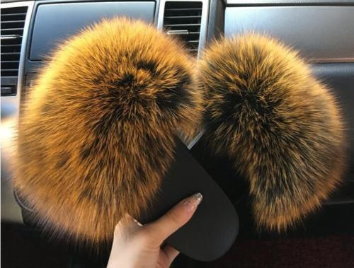 Genuine Mink Fur Women's Indoor Outdoor Slides shoes Mules Slippers Slippers Slippers Sandals New 26c60c