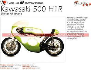 Kawasaki 500 H1 R ( H1r ) 1970 Fiche Moto 000200 Euzmmit5-07225003-227807021