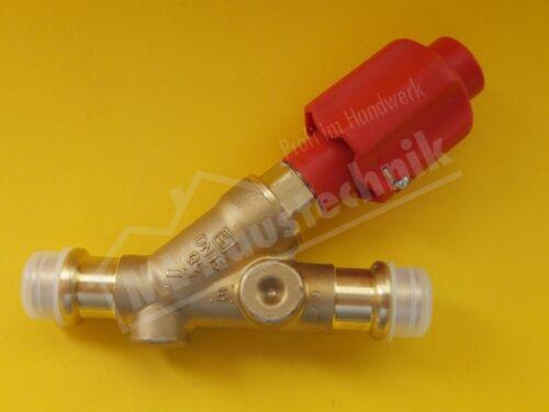 Seppelfricke Freistromventil mit V Kontur zum Pressen ohne Entleerung DVGW