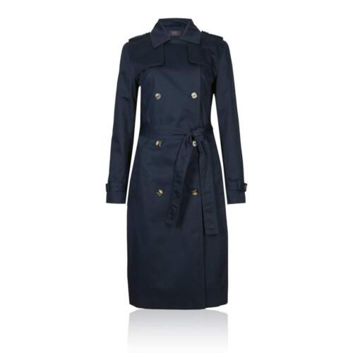 Marks /& Spencer M/&S T493307 Pure Cotton Longline Trench with Stormwear RRP £79