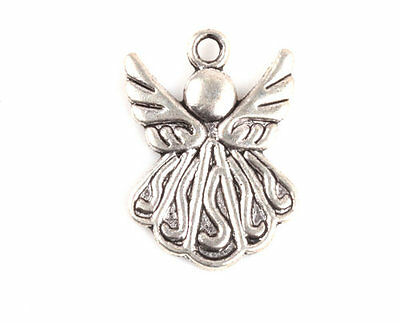 Lots10/20/50/100 Pcs Angel Tibetan Silver Charms Pendants Craft Jewelry Findings