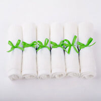 6 Pack Infant/baby Bamboo Wash Cloth Organic Baby Wipe Towels Terry Solid 1010