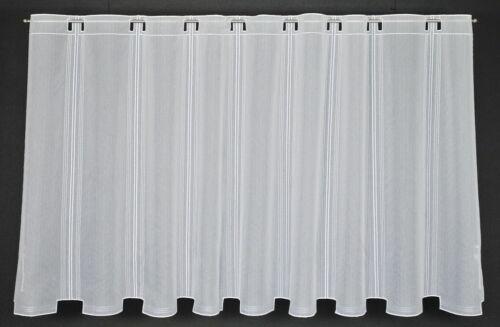 Scheibengardine neutral Bistrogardine Gardine Panneaux Küche 30//45//60//90 hoch