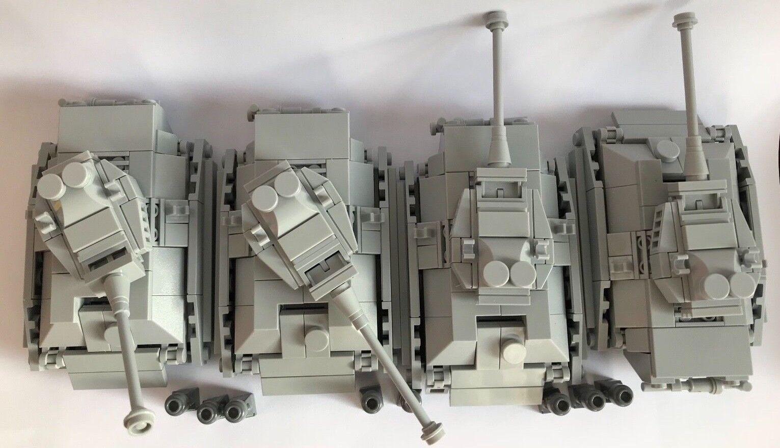 ORIGINALE Lego parti-Micro -  4 PANTHER TANK + 8 Soldati-la mia progettazione personalizzati  prezzo all'ingrosso