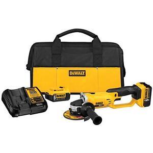 DEWALT DCG412P2 20V MAX Li-Ion 5.0 Ah Cordless Grinder Tool Kit