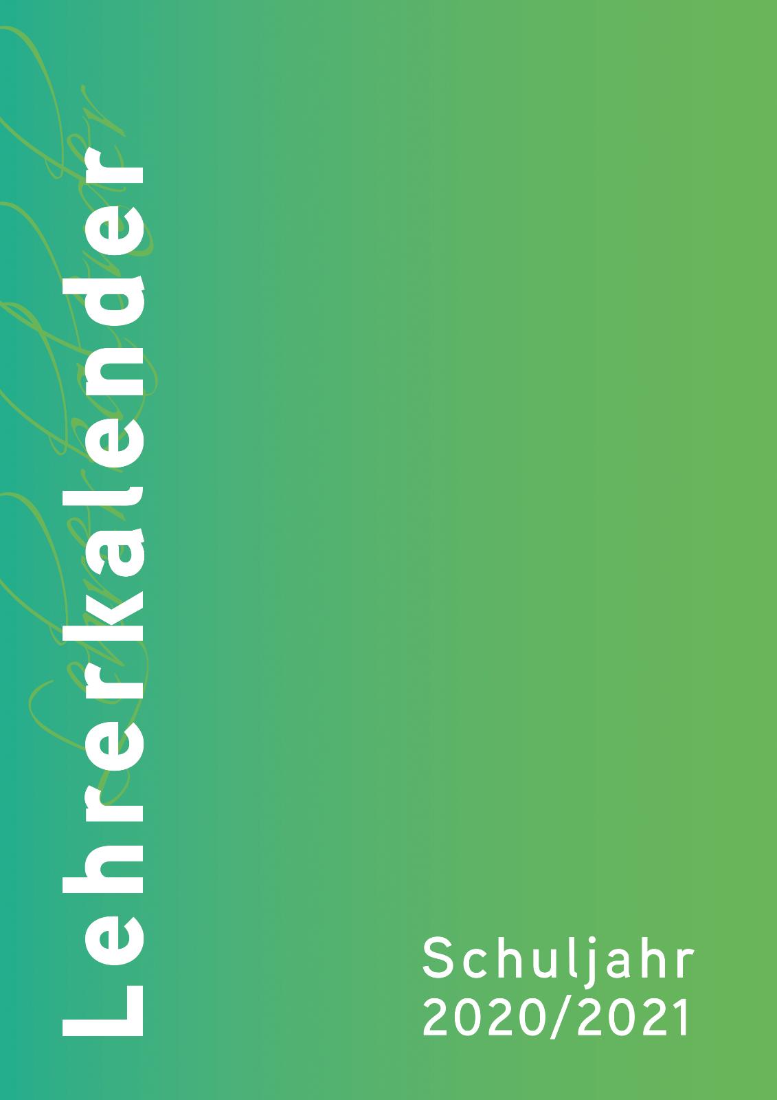 anthrazit DIN A5 Spiralbindung Lehrerkalender für das Schuljahr 2020//2021