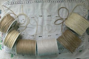BURLAP-Jute-IVORY-amp-NATURAL-1mm-to-4mm-Wide-Mixed-Lengths-3-Style-Choice-BRD14-2