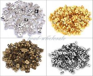 150pcs-Silver-Gold-Bronze-Butterfly-Earplug-Ear-Nut-Earring-Back-Stopper-6mm