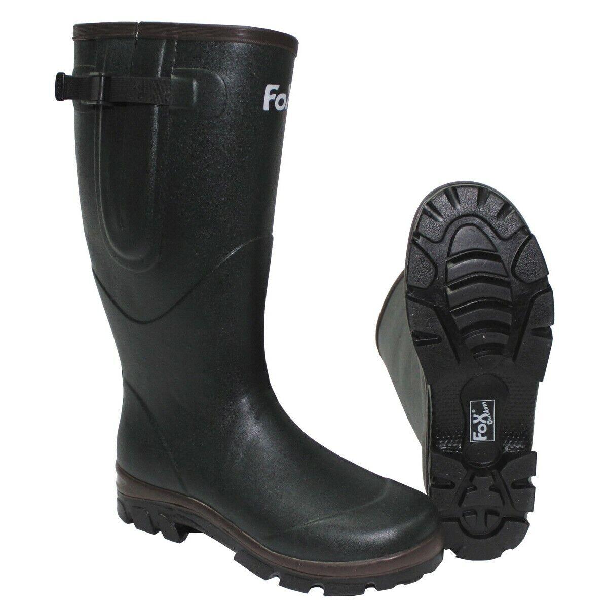 Fox botas  de goma verde oliva neopreno alimentación Al aire libre botas falleció. tamaños nuevo  estar en gran demanda