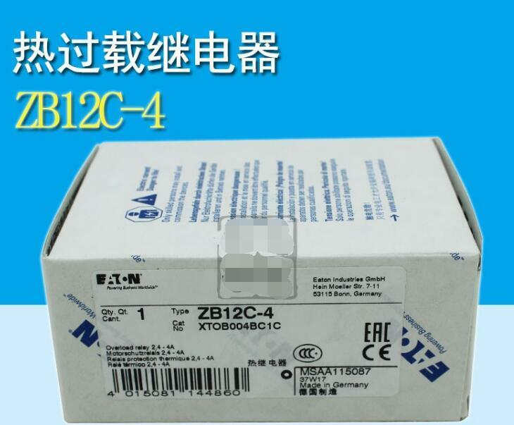 NEW  EATON  ZB12C-4 2.4-4A  relay  free shipping