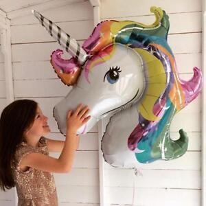 2X-Rainbow-Unicorn-Aluminium-Helium-Ballon-Enfants-Fete-D-039-Anniversaire-Decoration-Enfants-Jouet