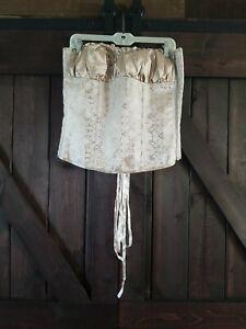 unbranded tan paisley side zip tie in back wedding