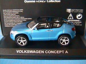 VW Concept A Voiture Blue Metal Geneve 2006 Norev 840108