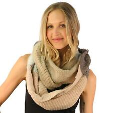Winter Cozy Soft Thick Warm Pastel Color Knit Loop Infinity Ski Snow Scarf Pink
