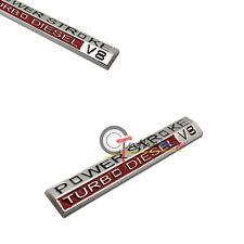 (1) 3D Metal 05-10 Super Duty Power Stroke Turbo Diesel V8 Fender Emblem Sticker