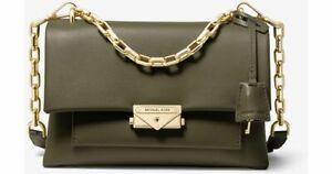 Details about Micheal Kors Cece Large Chain Shoulder Bag (Olive Green)