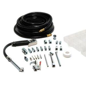 Tire-Inflator-Air-Compressor-Tool-Kit-20-Piece-50-ft-Hose-Needle-Chuck-Blow-Gun